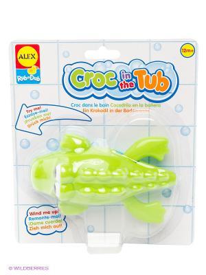 Игрушка для ванны Крокодил Alex. Цвет: салатовый
