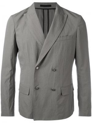Двубортный пиджак Paolo Pecora. Цвет: серый