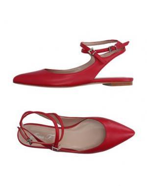 Балетки ANNA F.. Цвет: красный