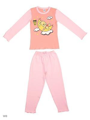 Пижама K&R BABY. Цвет: красный, желтый, персиковый