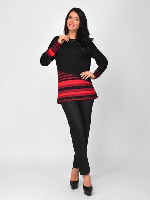 Туника Maria Velada. Цвет: бордовый, черный