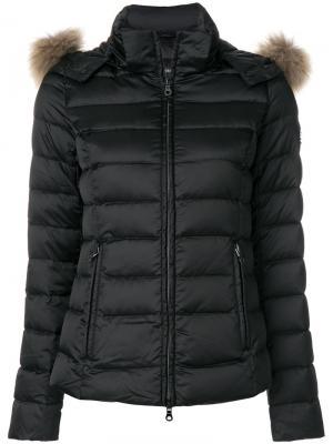Пуховая куртка с капюшоном Hetregò. Цвет: чёрный