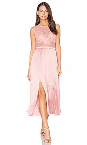 Платье pop of peony Three Floor. Цвет: розовый
