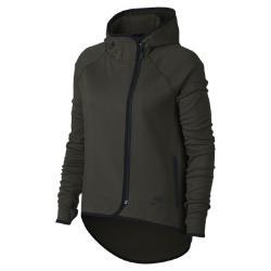 Женский кейп с молнией во всю длину  Sportswear Tech Fleece Nike. Цвет: оливковый