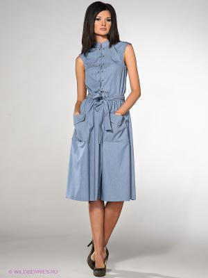 Платье Com-Mix. Цвет: голубой