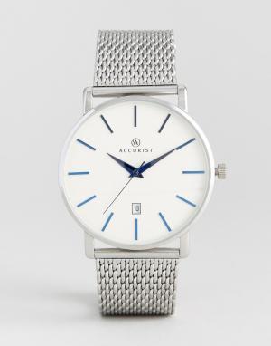 Accurist Серебристые часы с сетчатым ремешком. Цвет: серебряный