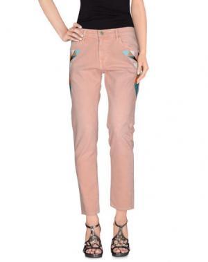 Джинсовые брюки SANDRINE ROSE. Цвет: розовый