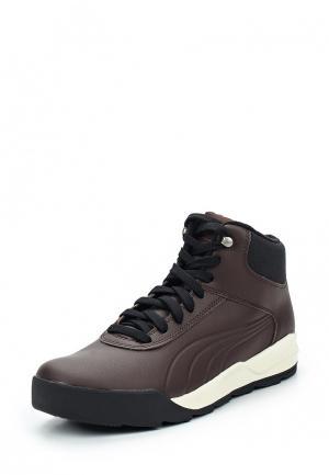 Ботинки PUMA. Цвет: коричневый
