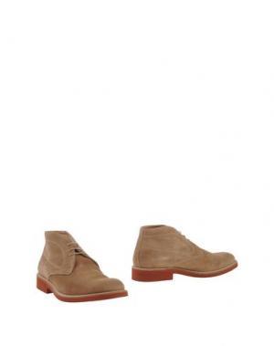 Полусапоги и высокие ботинки SIMONE MARIOTTI. Цвет: песочный