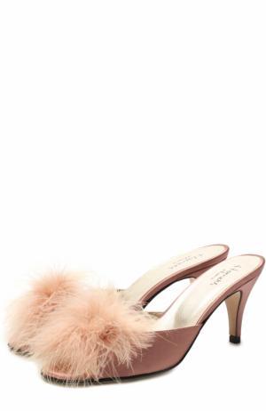 Атласные домашние туфли Homers At Home. Цвет: розовый