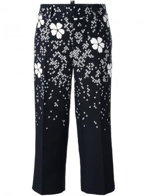 Укороченные брюки с цветочным принтом Dsquared2. Цвет: чёрный