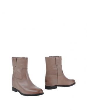 Полусапоги и высокие ботинки JULIE DEE. Цвет: голубиный серый