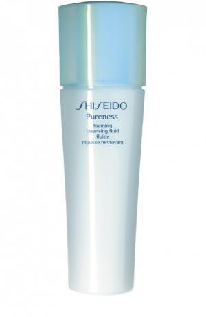 Очищающая пенка-флюид Pureness Shiseido. Цвет: бесцветный