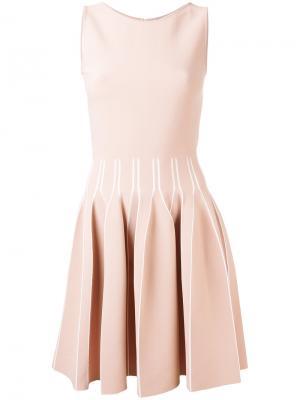 Плиссированное платье миди Antonino Valenti. Цвет: розовый и фиолетовый