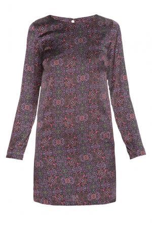 Платье из искусственного шелка 182603 Paola Morena. Цвет: разноцветный