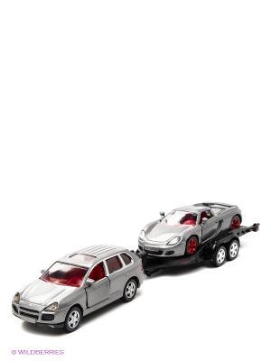 Машина с прицепом SIKU. Цвет: серебристый