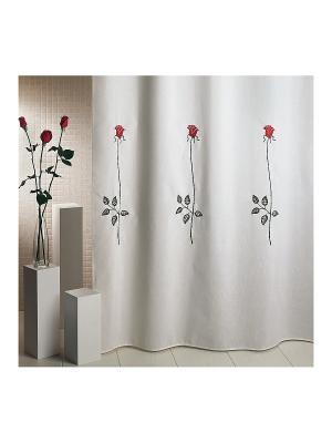 Шторка для ванной Rosas C. Red ARTI DECO. Цвет: белый