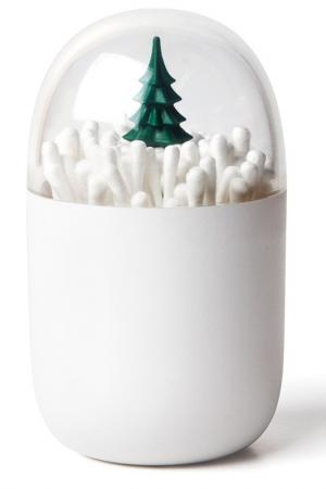 Контейнер для ватных палочек Qualy. Цвет: белый