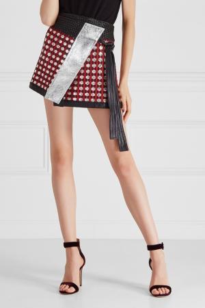 Кожаная юбка Proenza Schouler. Цвет: multicolor