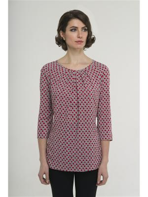 Блузка Modern. Цвет: серый, красный