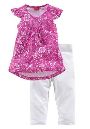 Комплект: туника + легинсы Colors for Life. Цвет: ярко-розовый