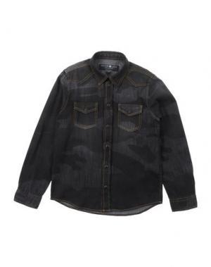 Джинсовая рубашка HYDROGEN SPORTSWEAR. Цвет: стальной серый