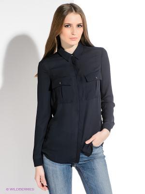 Блузка INCITY. Цвет: темно-синий