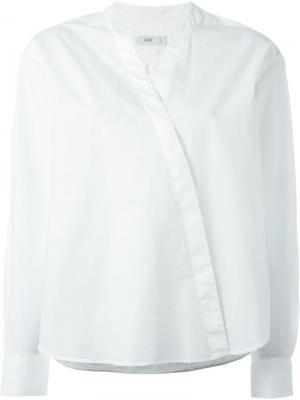 Блузка с запахом Closed. Цвет: белый