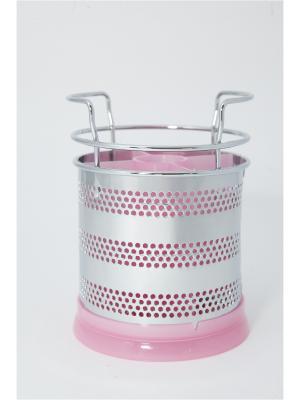 Сушилка для столовых приборов, металл, пластик, 10х15см Vetta. Цвет: розовый