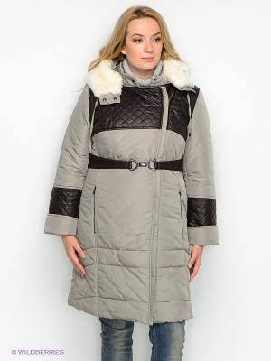 Пальто D`imma. Цвет: оливковый, коричневый
