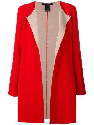 Пальто-кардиган без застежки Iris Von Arnim. Цвет: красный