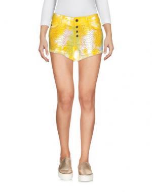 Джинсовые шорты JUST CAVALLI. Цвет: желтый