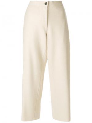 Классические укороченные брюки Barena. Цвет: белый