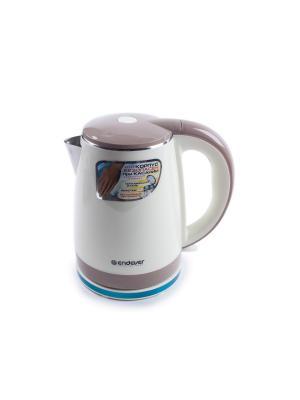 Чайник электрический KR-239S Endever. Цвет: бледно-розовый, белый