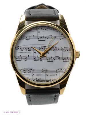 Часы Mitya Veselkov Ноты. Цвет: черный