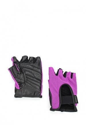 Перчатки для фитнеса Reebok. Цвет: фиолетовый