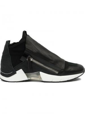 Кроссовки с панельным дизайном Cinzia Araia. Цвет: чёрный