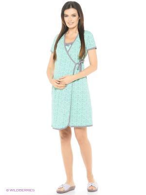 Комплект для беременных и кормящих ФЭСТ. Цвет: зеленый, серый