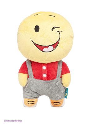 Игрушка Смайл свой парень MAXITOYS. Цвет: желтый, серый, красный