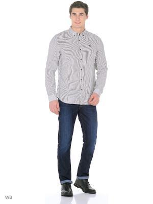 Рубашка TIMBERLAND. Цвет: белый, серый