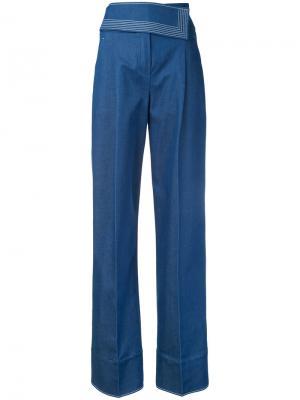 Широкие джинсы Nehera. Цвет: синий