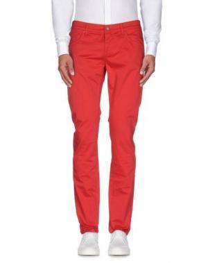 Повседневные брюки DNM-BRAND. Цвет: красный