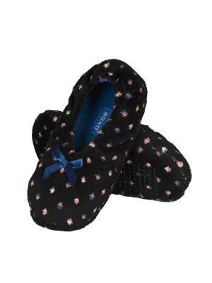 Тапочки-балетки женские Soxo. Цвет: черный