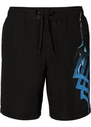 Мужские плавки-шорты (черный) bonprix. Цвет: черный