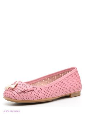 Балетки El Tempo. Цвет: розовый