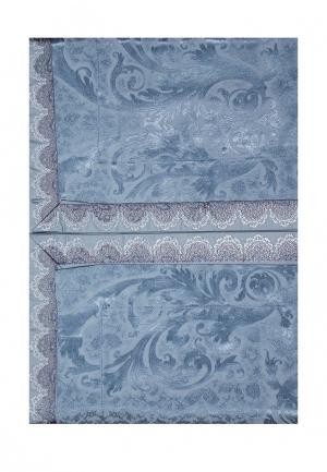 Комплект постельного белья Евро Asabella. Цвет: синий