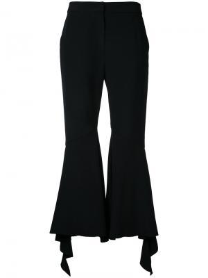 Расклешенные брюки с оборками Goen.J. Цвет: чёрный