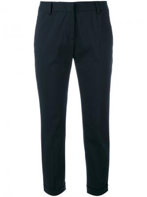 Укороченные брюки строгого кроя Tonello. Цвет: синий