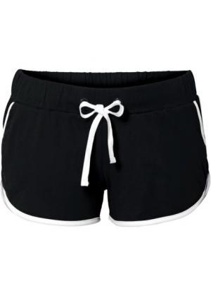 Пляжные шорты (черный) bonprix. Цвет: черный