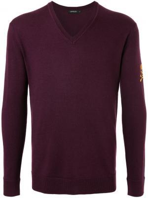 Трикотажный свитер Loveless. Цвет: розовый и фиолетовый